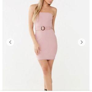 Belted tube dress